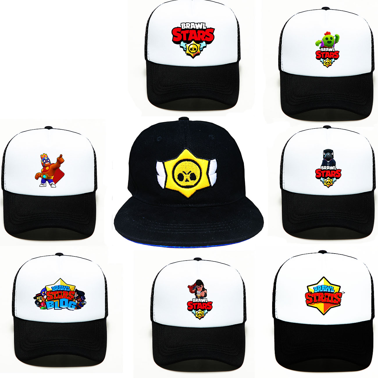 2020 Summer Brawl Stars Game Toys New Mens Outdoor Sport Sunscreen Baseball Hat Running Visor Cap Breathable Quick Gorras Chapeu