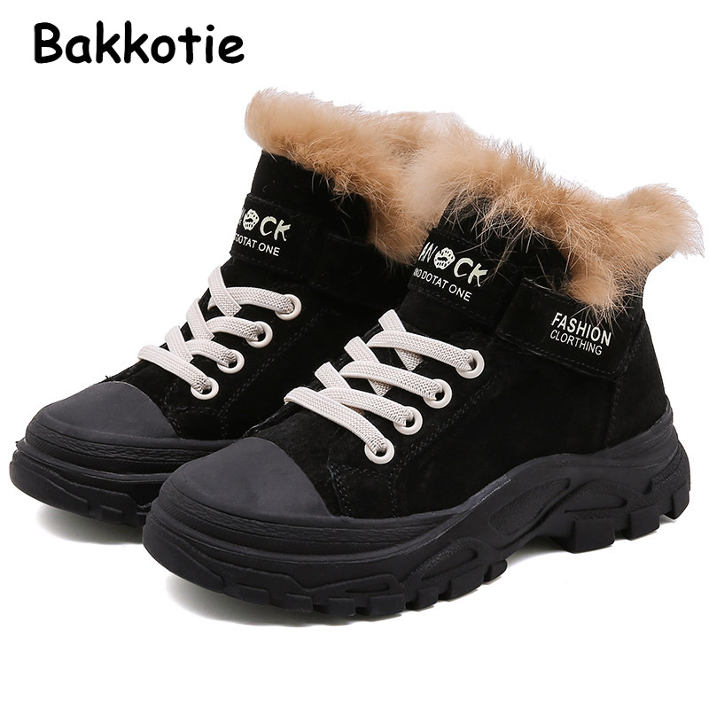Bakkotie 2019 Kids Winter Baby Girls Fashion Sport Sneakers Children Brand Black Shoes Boys Casual Suede Trainers