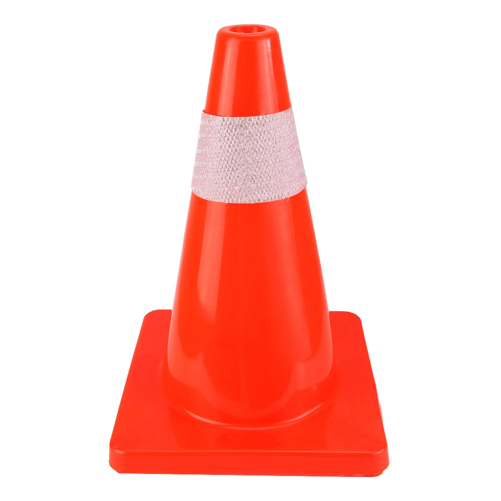Plastic Road Traffic Cone Reflective Safety Warning Heat and Cold Resistant Sign