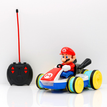 21cm 2 Types Super Mario RC CAR Action Figure Collection Model with Box