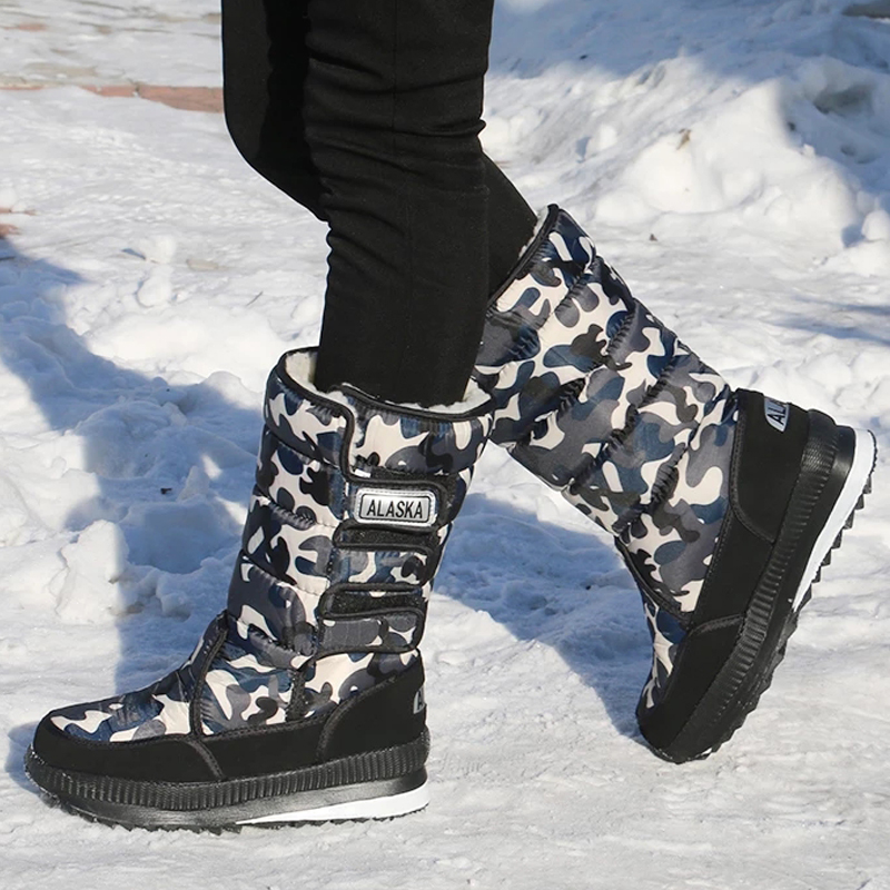 Мужские Ботильоны водонепроницаемые, теплые зимние меховые сапоги, рабочая обувь, унисекс, размеры 36-46
