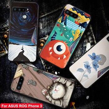 Per ASUS ROG Del Telefono 3 Caso ROG3 2020 Protezione Completa Molle Del Silicone Opaco Della Copertura Per Asus Rog 3 Antiurto del fumetto cassa del telefono