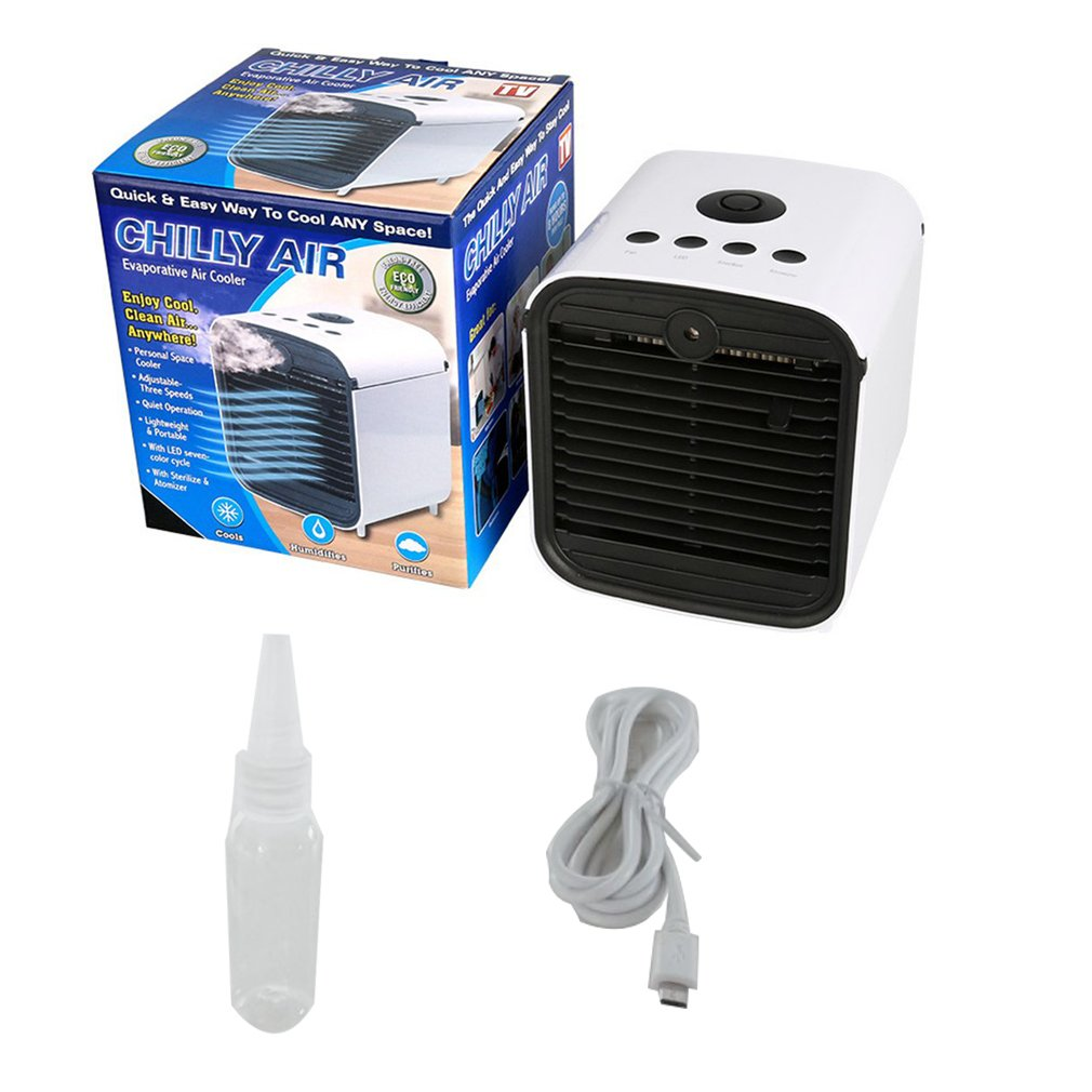 Colorful Humidifier Air Purifier Air Cooler Mini Fans Personal Space Air Conditioner Device