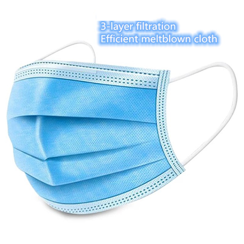 20 Pcs 3-layer Mask Meltblown Non-woven Dust Mask Dustproof As KN95 Anti Protective Mask Disposable Mouth Mask Dustproof Cloth