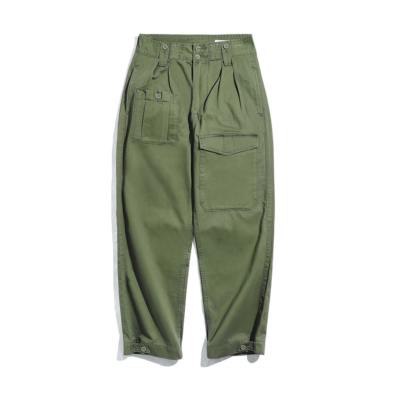 2020 New Retro Military Style Loose P37 Military Pants Classic Straight Big Pocket Casual Pants Male