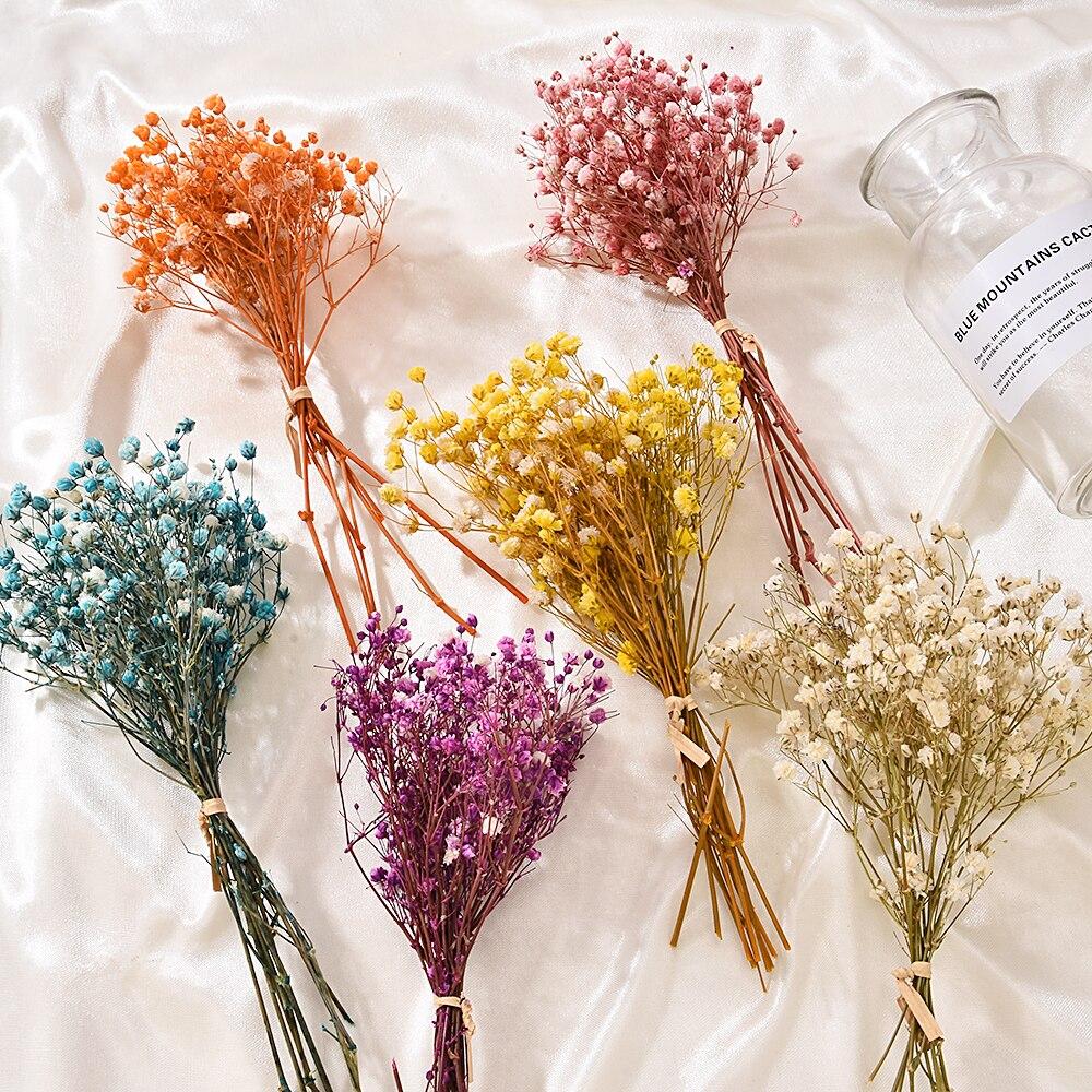 Настоящий счастливый цветок, маленький натуральный сушеный букет цветов, сухие цветы, пресс, декоративный мини фон для фотосъемки, Декор