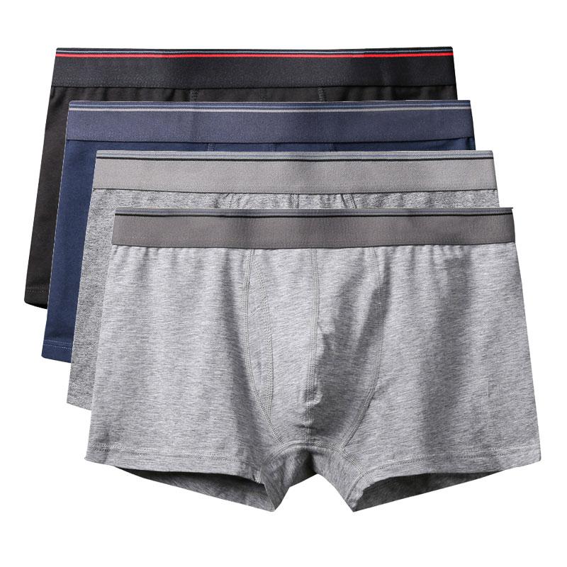 Boxer Mens Underwear Men Cotton Underpants Male Pure Men Panties Shorts Underwear Boxer Shorts Cotton Solid Cuecas
