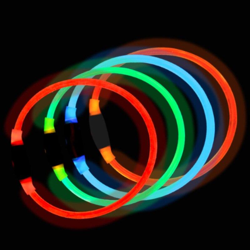 Night Light Dog Neck Ring LED Pet Dog Collar Night Safe Dog Quintana Shining Collar