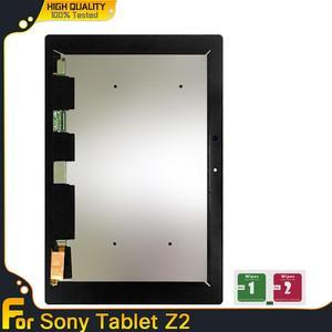 Display lcd para sony xperia tablet z2 sgp511 sgp512 sgp521 sgp541 sensores de tela toque digitador assembléia substituição