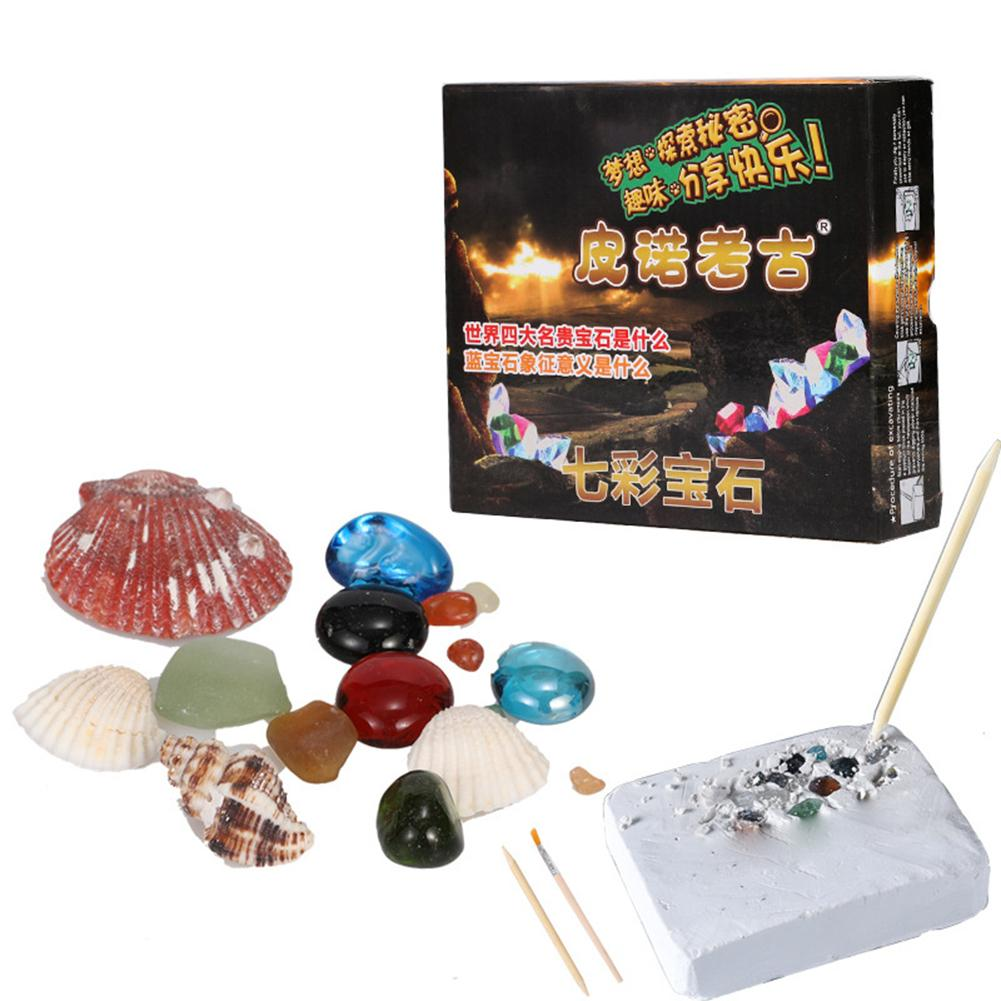DIY Faux Gem Shells Excavation Dig Up Kit Educational Kids Archaeological Toy Interactive Games Toys Gift For Children