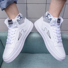 High Quality Brand Men Casual Shoes Hot Sale Black Casual Shoes Men Breathable Spring Fashion High Top Casual Men Shoes White