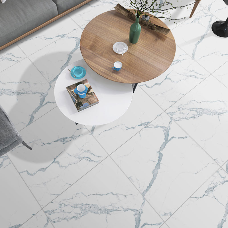 Self-adhesive Marble Floor Tile Wall Sticker PVC Oil-proof Waterproof For Home Living Room Bedroom Kitchen Bathroom DMT-001
