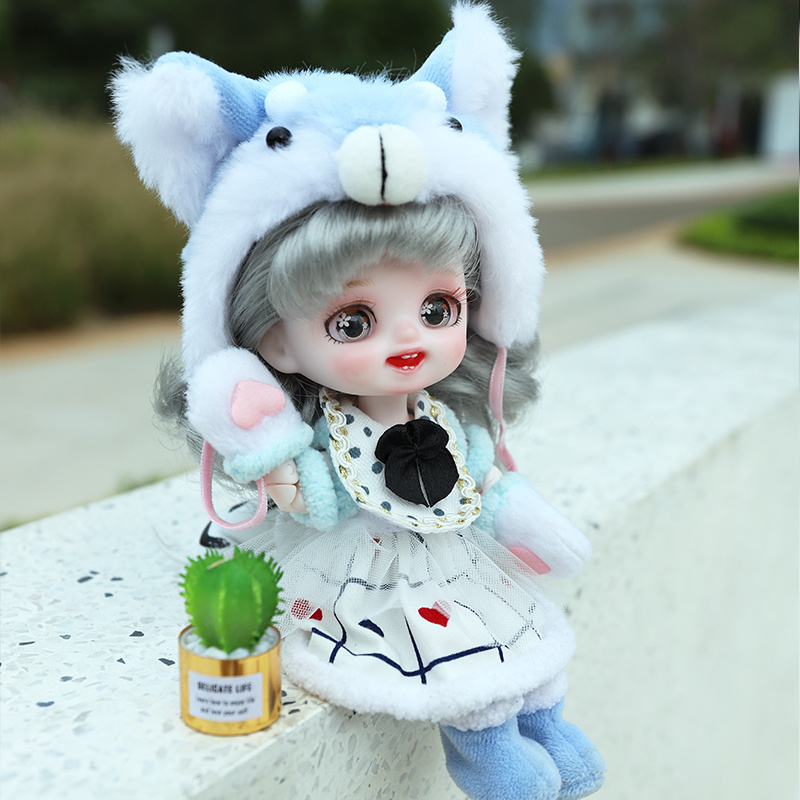 ICY DBS 1/8 BJD DREAM FAIRY POCKET DOLL mechanical joint Body With makeup hair eyes clothes shoes 16CM SD gift box packaging