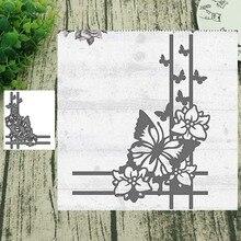 Cutting-Dies Lace-Stencils Craft Scrapbooking Album Paper-Decorative Corner Metal Butterfly