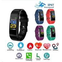 Männer Frauen Smart Uhr kinder Fitness Armband Herz Rate Wecker Schrittzähler Sitzende Erinnerung Android IOS