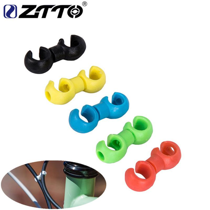 1pcs Bike Road Bike Handcuffs Shape Clips Housing Pipe Guide For Brake Cable / Derailleur Line Clasps