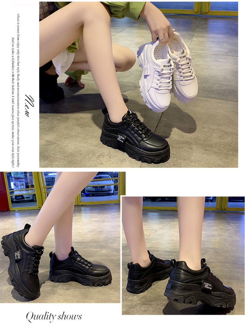 Autumn New Korean Style Women Shoes Casual Platform Solid Color Sneakers Women Casual Shoes Sneakers Zapatos De Mujer VT762 (3)