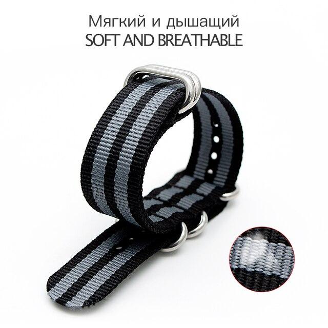 Bracelet en Nylon hommes Bracelet de remplacement pour otan Bracelet zoulou avec boucle en argent boucle toile hommes Bracelet montre accessoires