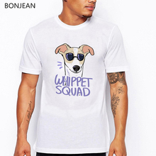 new arrival 2019 whippet squad animal print t-shirt men graphic tees funny t shirts camisetas hombre harajuku shirt streetwear