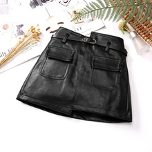 Faux Leather Skirts for Kid Girls Spring Thin PU Leather Skirt