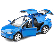 лучшая цена New 1:32 Tesla MODEL X Alloy Car Model Diecasts & Toy Vehicles Toy Cars Free Shipping Kid Toys For Children Gifts Boy Toy