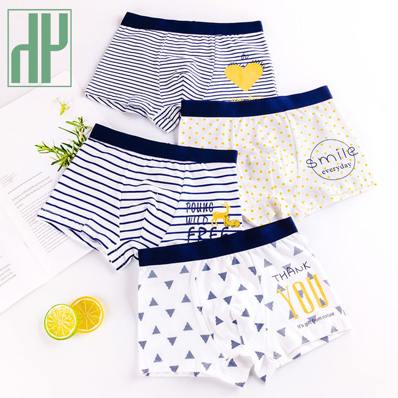 HH 3 Piece Kids Boys Underwear Cartoon Children\'s Shorts Panties for Baby Boy Toddler Boxers Stripes Teenagers Cotton Underpants