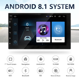 Image 2 - Android 8,1 2 Din 7 inch HD 4 Core Touch Screen Auto radio Multimedia Player Universal Bluetooth autoradio GPS KARTE spiegel Link