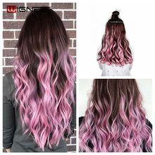 Wignee Colorful For Women 5 Clips In Hair Pieces High Temper