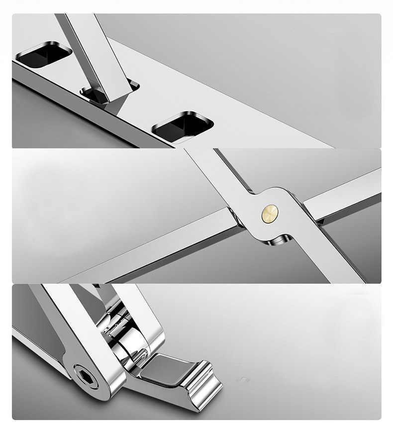 MICCGIN X نمط محمول حامل قابل للتعديل طوي الألومنيوم سطح المكتب دفتر حامل مكتب حامل ل 7-15 بوصة ماك بوك برو الهواء ديل