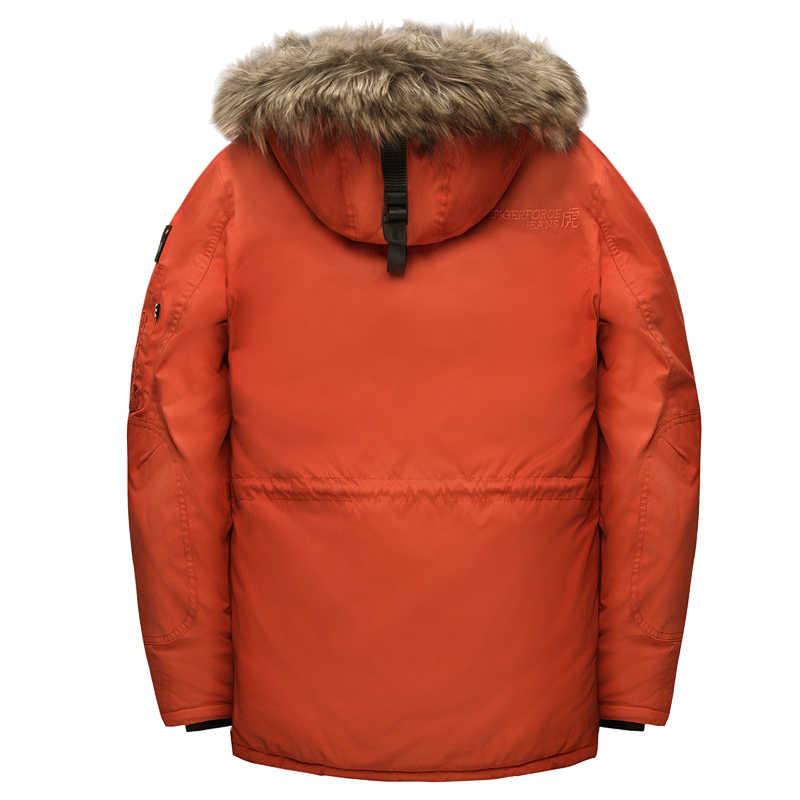 TIGER KRAFT Parka männer Winter Jacke Wasserdicht Mit Kapuze Jacke Stepp Ski Snowjacket Extrem Kalten Russland Mann Mantel