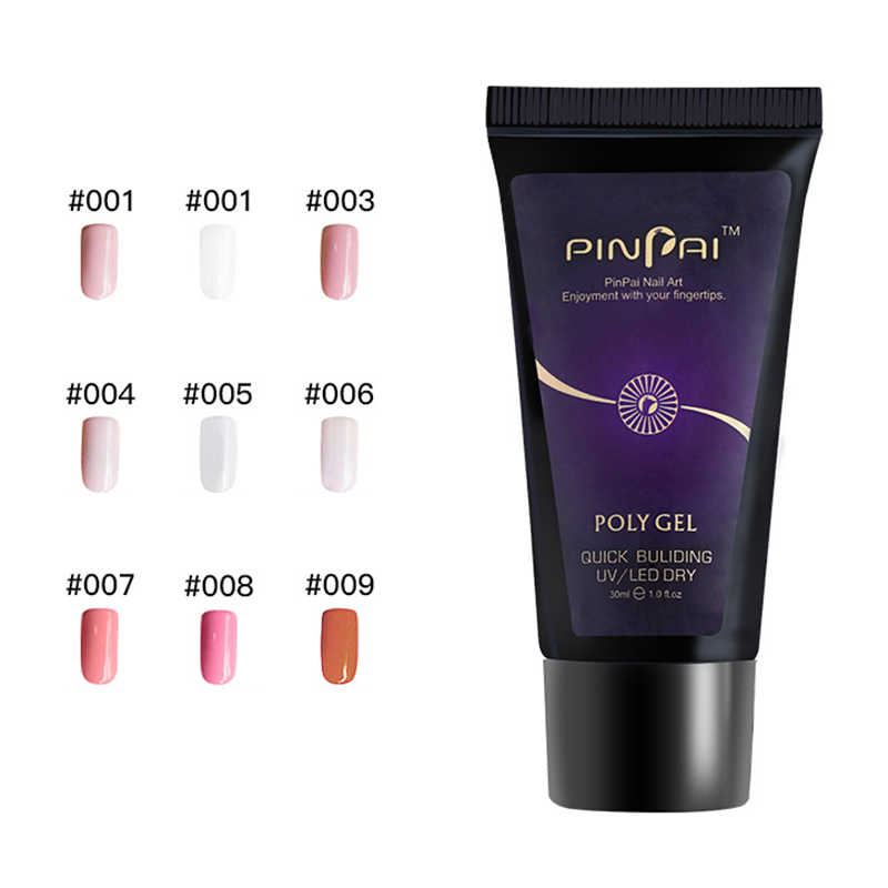 Hot koop 30ml Clear Nail Extender UV LED Verlengen Builder Gel voor Building Manicure Nail Art Tip