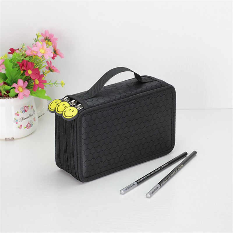 น่ารัก Penal สำหรับโรงเรียนดินสอสำหรับหญิงโทษ Big Pencilcase 3 ชั้น 52 หลุมกล่องปากกาเครื่องเขียนตลับหมึกชุดกระเป๋า