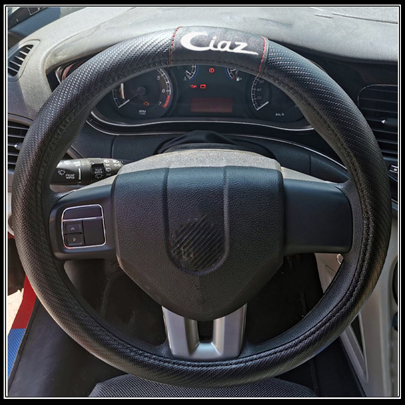 ALFA FAUX LEATHER RED STEERING WHEEL COVER