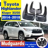 4Pcs Set For Toyota Highlander Kluger XU50 2014 - 2018 Mud Flaps Mudflaps Splash Guards Front Rear Mudguards 2014 2015 2016 2017