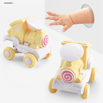 Children Car Toys 1:36 Mini Inertia Four-Wheel-Drive Mini Train Vehicle Simulation Model Pull Back Stunt Car Toys For Baby Gifts j084b diy small four wheel drive car interesting diy making for adults and children sell at a loss