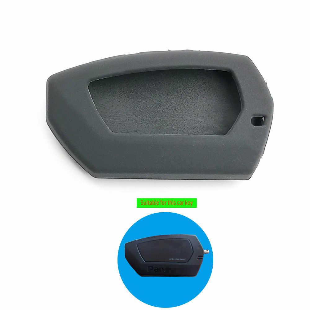 Gaya Baru Dua Cara LCD Remote Kunci Kulit Case Cover untuk Pandora DX-90BT DX-91Lora Rusia Versi 2 Mobil sistem Alarm