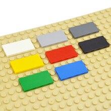 DIY yapı taşları şekil tuğla seramik karo 2x4 eğitim yaratıcı boyutu MOC tuğla pürüzsüz düz fayans oyuncaklar çocuk