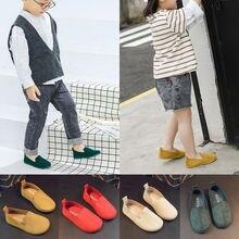 Повседневная обувь для новорожденных девочек и мальчиков; однотонная обувь с мягкой подошвой; нескользящие кроссовки для малышей