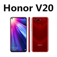 Nova honra v20 honra ver 20 telefone android 48.0mp kirin 980 impressão digital duplo cartão sim 6.5
