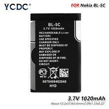 3.7V 1020mAh BL-5C baterii BL5C BL 5C telefon komórkowy Bateria zamiennik dla Nokia 2112 2118 2255 2270 2280 2300 2600 2610 3125