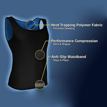Men Neoprene Sweat Sauna Vest Body Shapers Vest Waist Trainer Slimming Vest Shapewear Waist Shaper Corset for women 3