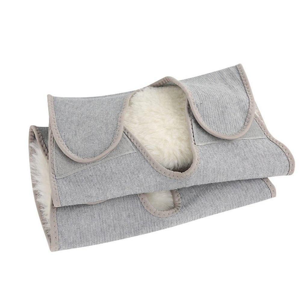 2pc Winter Outdoor Sports Warm Lengthened Knee Pads Protector Protective Elastic Wool Thermal Plush Kneepad Kneecap Kneelet