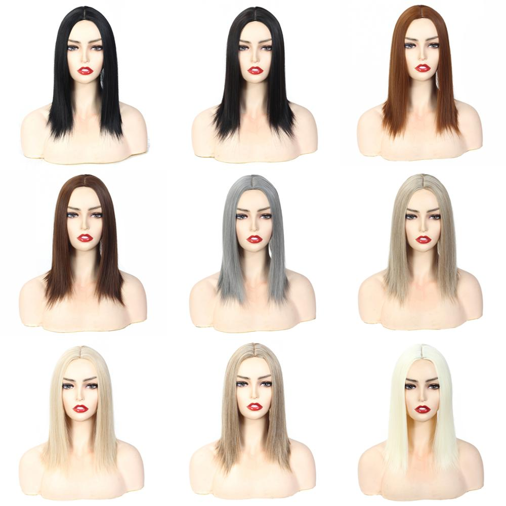 Topper Hair Piece For Women 3 Clips In Synthetic Hair Piece Long Straight Hair Closure High Temperature Fiber Synthetic Hair