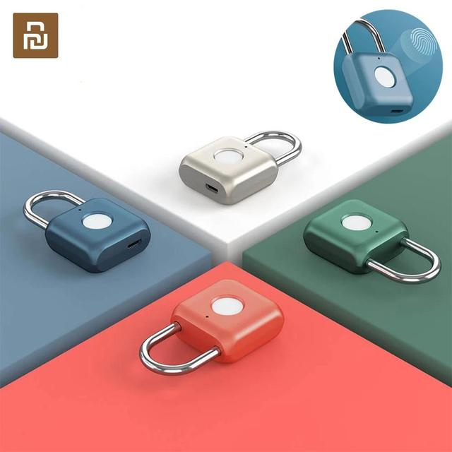 Youpin Smart Fingerprint Padlock Kitty USB Waterproof Electronic Fingerprint Lock Home Anti theft Luggage Case Safety Padlock