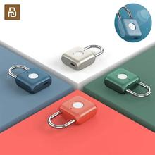 Youpin חכם טביעות אצבע מנעול קיטי USB עמיד למים אלקטרוני טביעת אצבע מנעול נגד גניבת מזוודות מקרה בטיחות מנעול