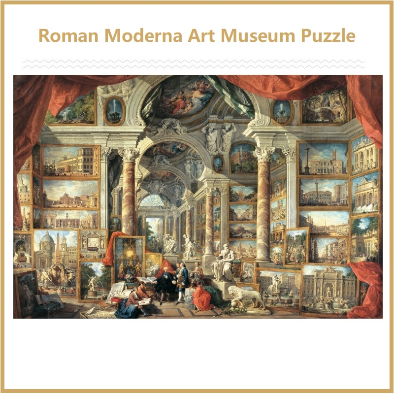 NEW High Quality Assembling Roman Moderna Art Museum 5000 Pieces Jigsaw Puzzle For Adult Gift