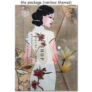 Image 3 - مجموعة غرز متقاطعة رائعة ذات جودة عالية الأعلى مبيعًا بنقشة زهور رومنسية وكمان قاتم 35185