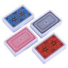 Cartão de jogo multiplayer caixa criativa embalado pvc cartões à prova dwaterproof água texas jogando cartões plástico durável poker truques mágicos ferramenta