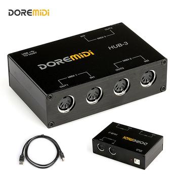 DOREMiDi MIDI 3 #215 3 Box MIDI interfejs MIDI Box MIDI HUB-3 MIDI Box USB MIDI interfejs MIDI Box konwerter kontroler tanie i dobre opinie CN (pochodzenie) HUB-3(MIDI 3x3) Przetwarzanie sygnału