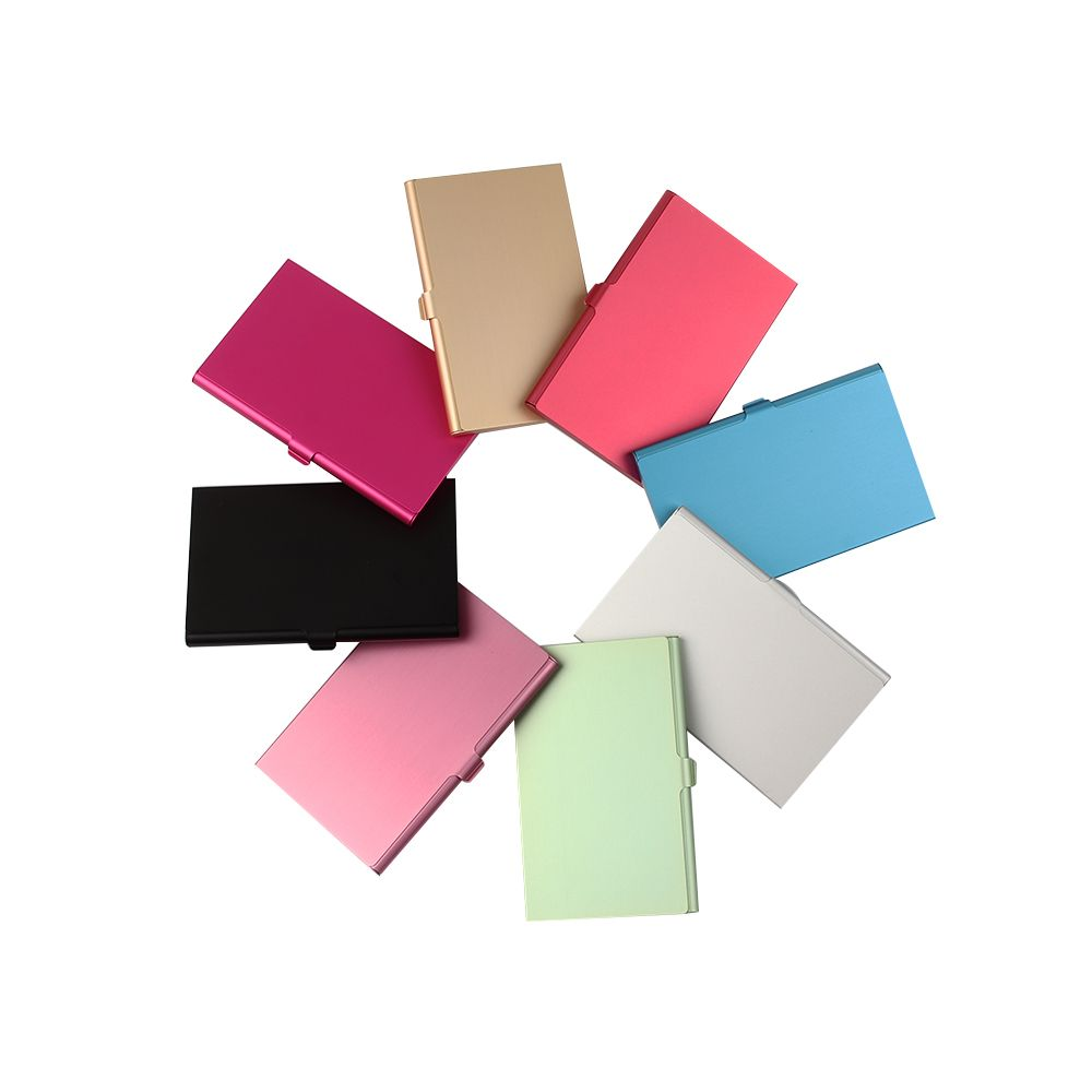 Creative Business Card Holder Alloy Aluminum Metal Box Credit Card Wallet Business Card Case Stationery Desk Organizer